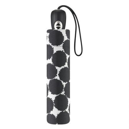Дамски чадър PIERRE CARDIN - с черни кръгове сгъваем