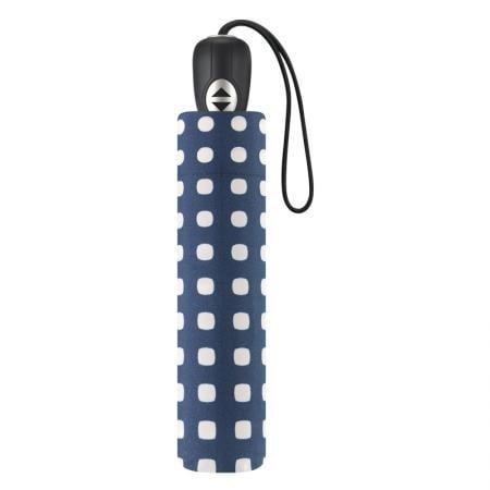 Дамски чадър PIERRE CARDIN - син с бели точки сгъваем