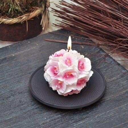Свещ орхидея топка малка