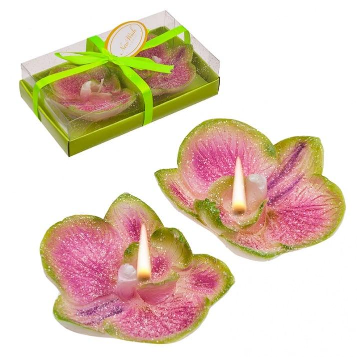 Свещ орхидея 2 бр.