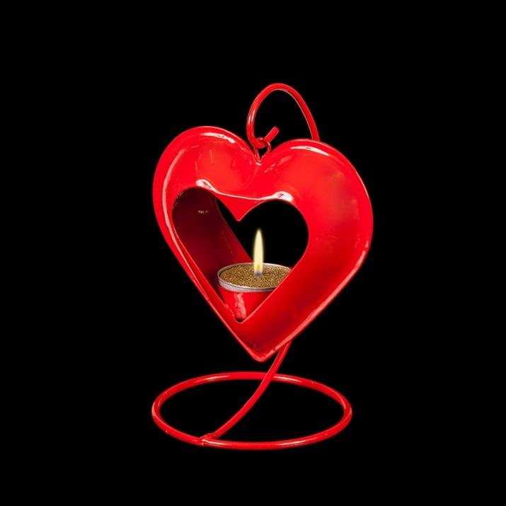 Фенер червено сърце