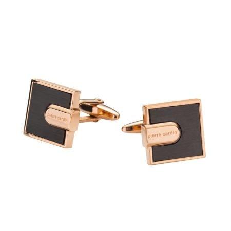 Копчета за ръкавели PIERRE CARDIN квадратни черно и златно