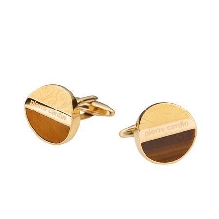 Копчета за ръкавели PIERRE CARDIN кафяво със златно