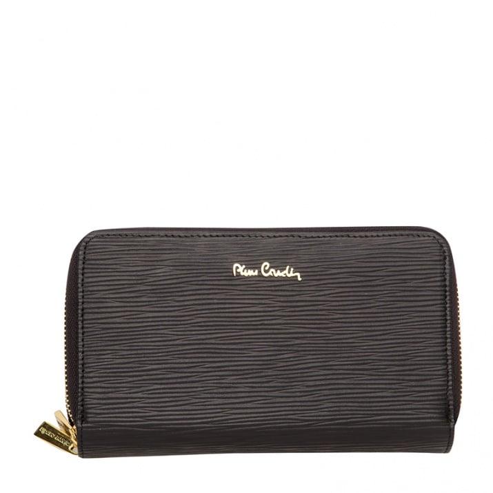 Дамско портмоне - черно черти PIERRE CARDIN