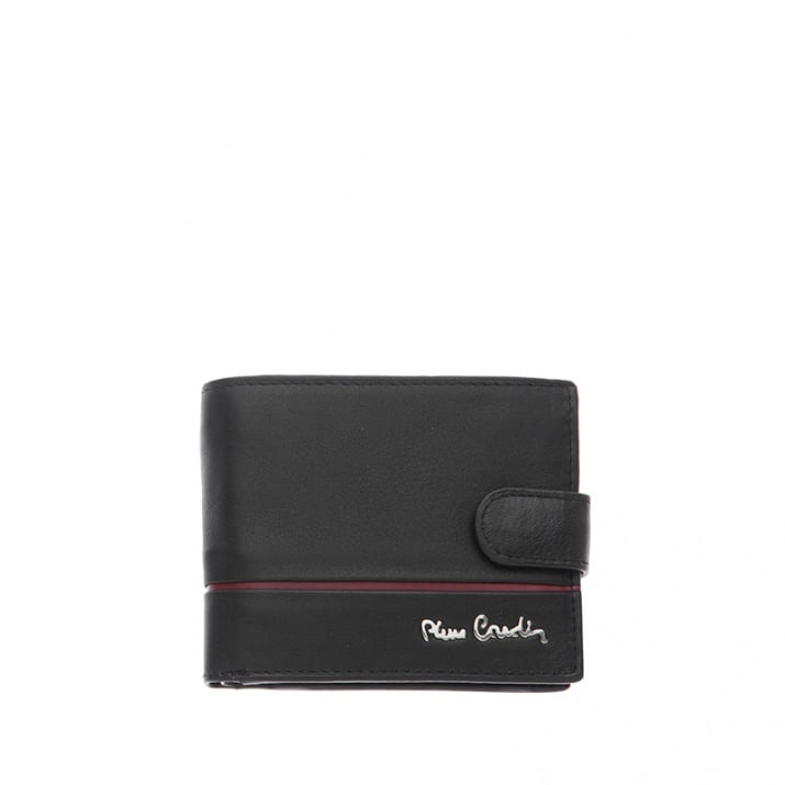 Мъжки портфейл с хоризонтална червена лента - малък PIERRE CARDIN