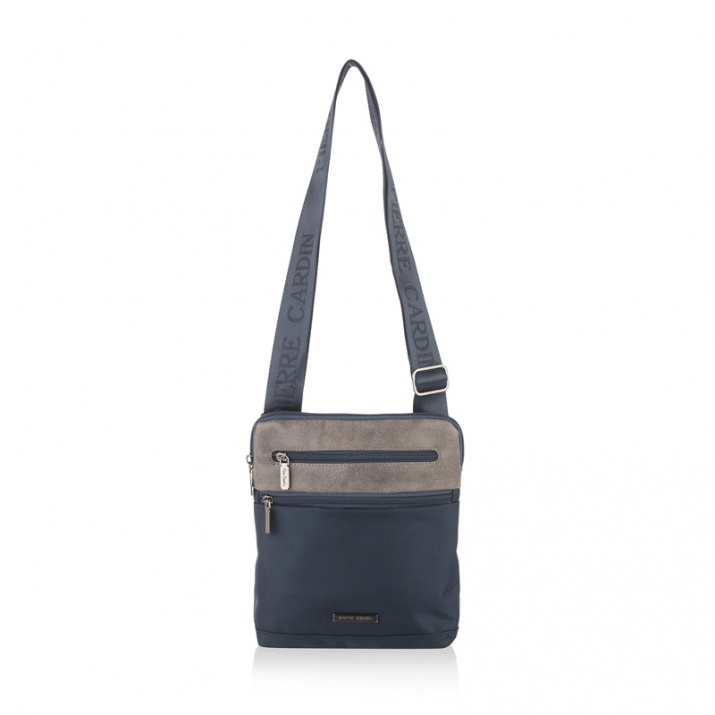 Мъжка чанта комбинация синьо и сиво PIERRE CARDIN