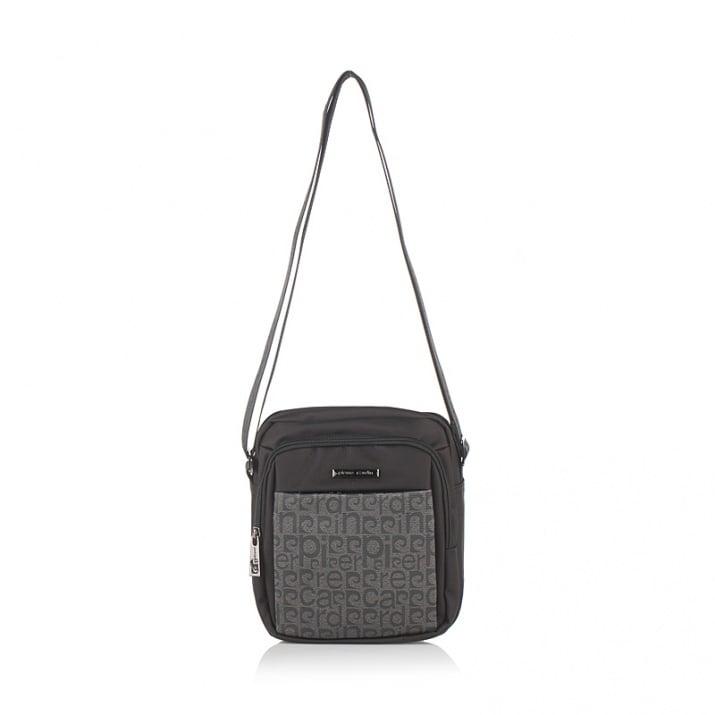 Мъжка чанта черно и сиво PIERRE CARDIN