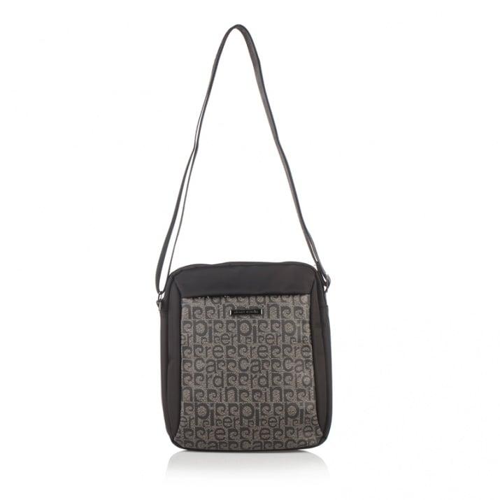 Мъжка чанта плат черно и тъмно кафяво PIERRE CARDIN
