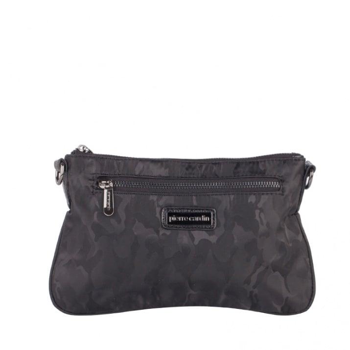 Дамска кокетна черна чанта Pierre Cardin