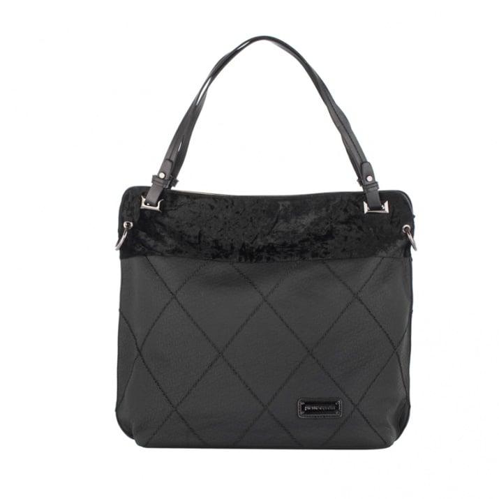 Дамска черена чанта от еко кожа Pierre Cardin