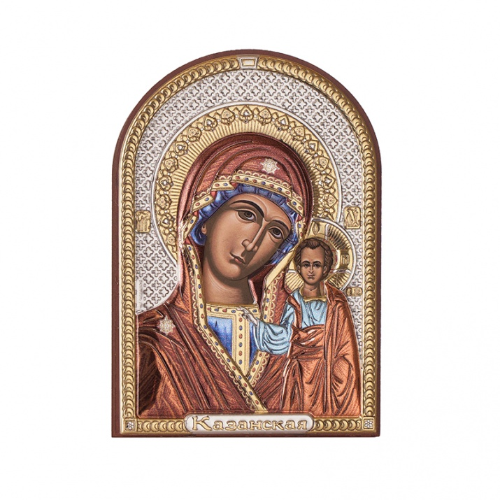 Икона Казанска Богородица 7,5 / 11 см.