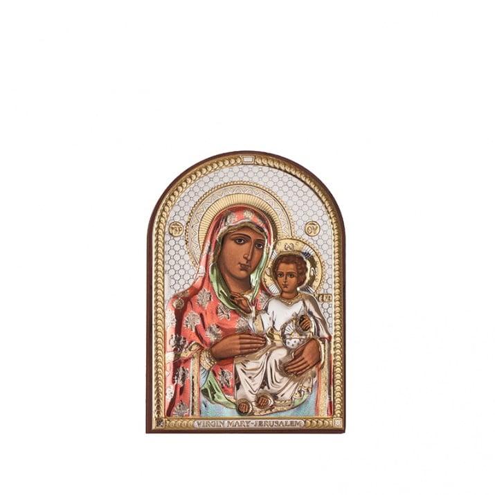 Икона Йерусалимска Богородица 7,5 / 11 см.