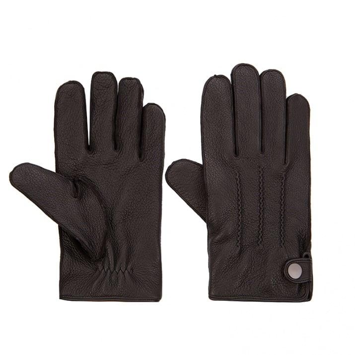 Мъжки черни ръкавици Silver Flame