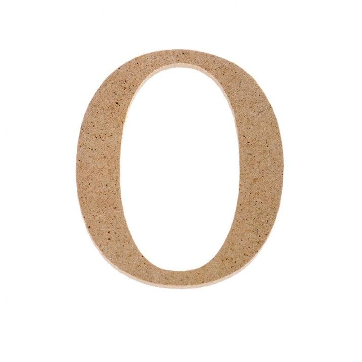 "Декоративен символ RicoDesign, ""0"", MDF, 4,1x3,5 cm"
