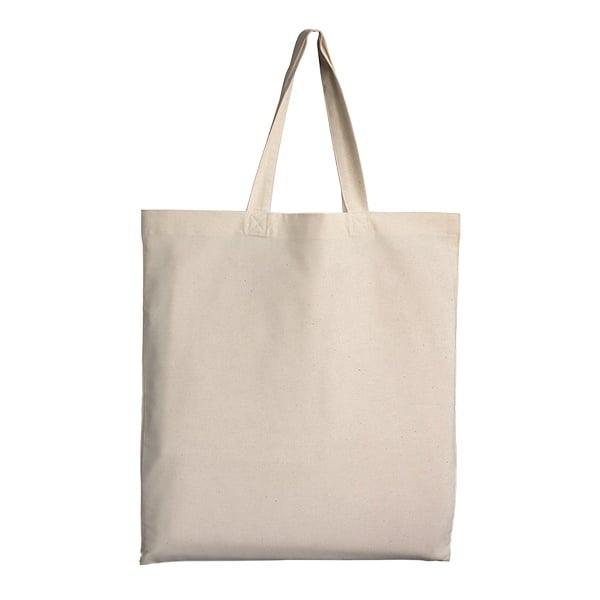 Памучна чанта, къси дръжки, 38 х 42 cm, натурална