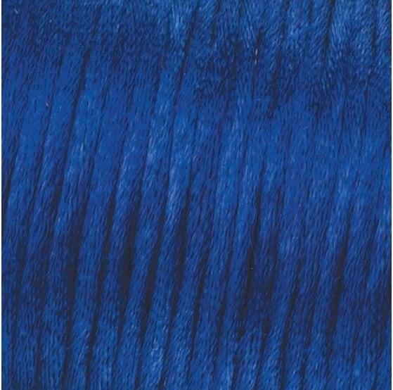 Сплетен шнур, сатен, 2 mm, 50 м. ролка Сплетен шнур, сатен, 2 mm, 50 м. ролка, син