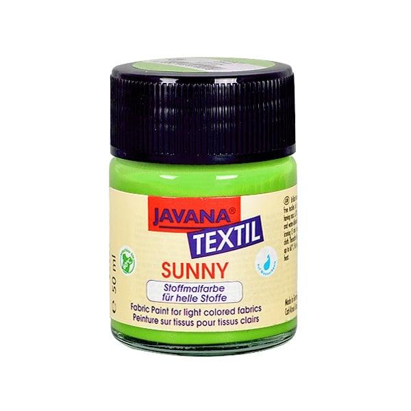 Текстилна боя, Sunny JAVANA, 50 ml /за светла основа/ Текстилна боя SYNNY JAVANA, 50 ml, светло зелен