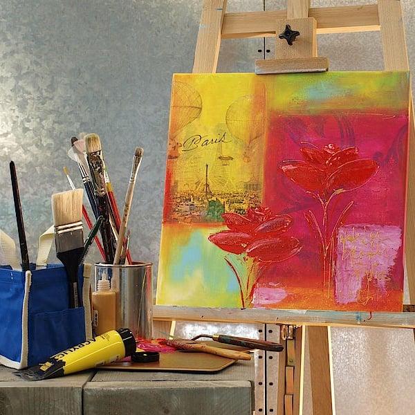 Комплект акрилни бои elGreco, 12 ml, 12 цвята