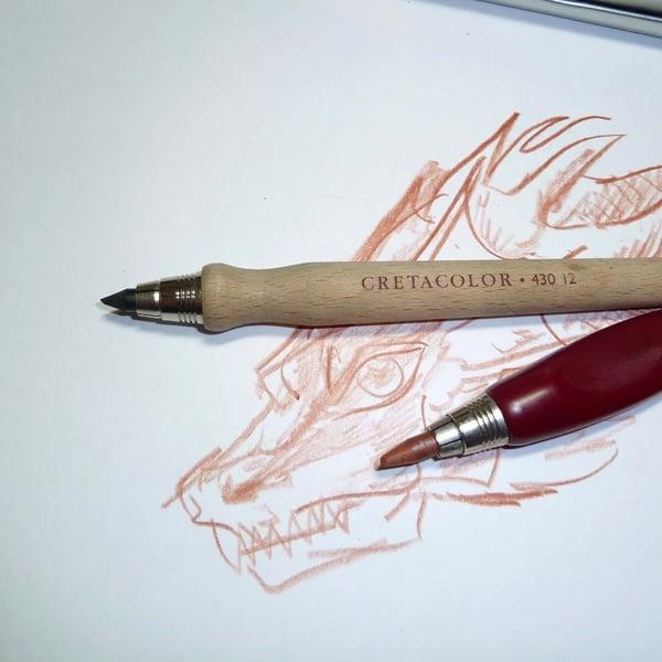 Сухопастелен молив CretaColor, Sanguine Pencils, medium