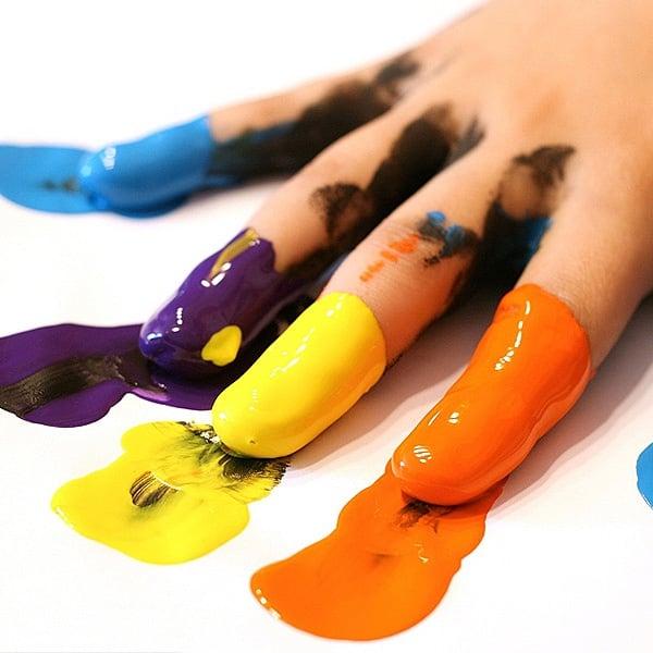 Комплект боички за рисуване с ръце CREALL, 8х340 ml, поставка