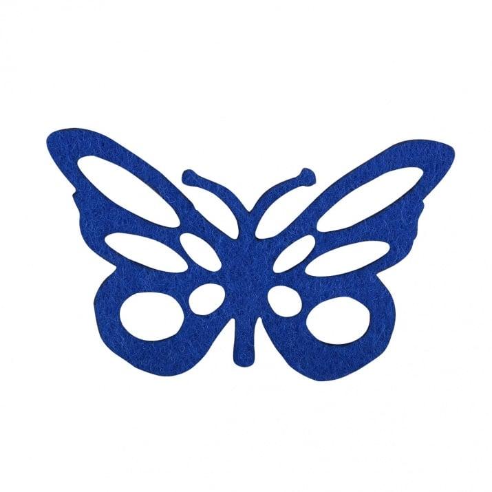 Деко фигурка пеперуда от филц  Деко фигурка пеперуда с фигури. Filz. 60 mm. лилава