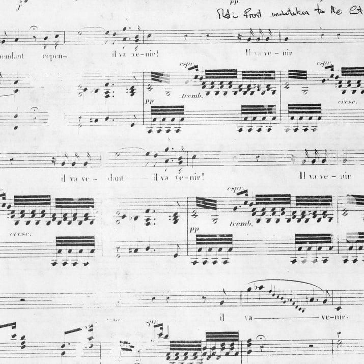 Картон лист Bazzill - Antique, Музика, 30,6 x 30,6 cm, 178 g/m