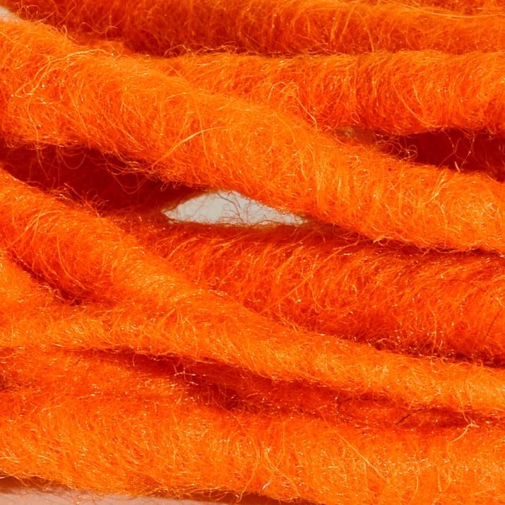 Връзка вълнена, Filzkordel, 5 mm x 20 m, оранжева