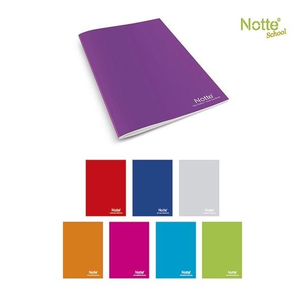 Тетрадка Notte School, A5, 100 л., ред, 60 g/m2