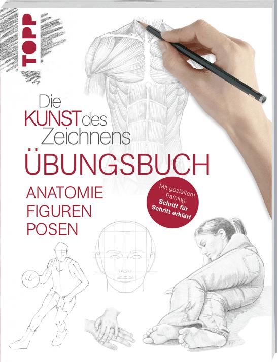 Книга на немски език TOPP, DIE KUNST DES ZEICHNENS - ANATOMIE, FIGUREN, POSEN, UBUNGSBUCH, 112 стр.