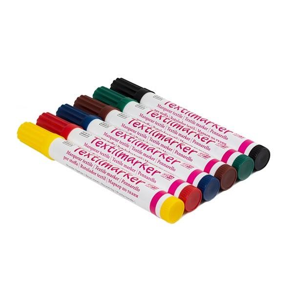 Комплект текстилни маркери, 2 - 4 mm, 6 бр.