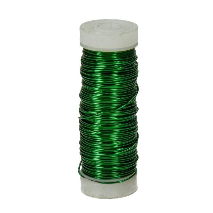 Медна тел, ф 0.50 mm, 25 m Медна тел, ф 0.50 mm, 25 m, зелен металик