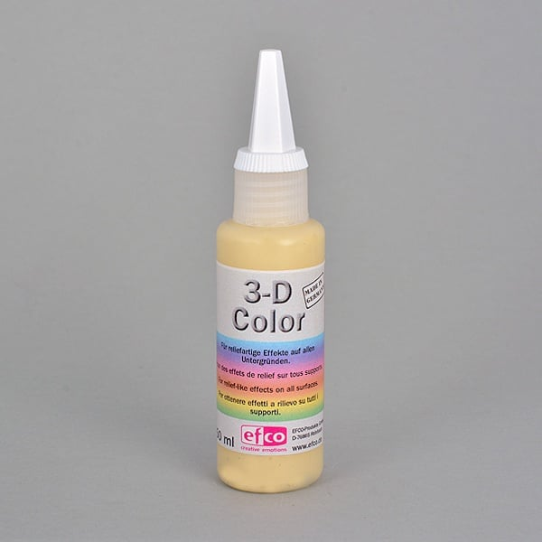 3-D Color бои с  3-D ефект, 50 ml  3-D Color, 50 ml, жълта