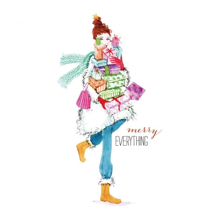 Салфетка PPD-  Коледа - Merry Everything, 33 x 33 cm, пак.20 бр.