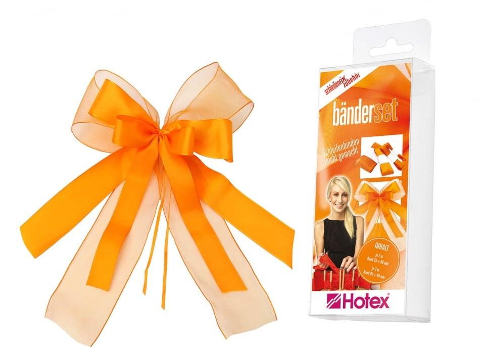 Комплект текстилни ленти, Schleifenfix, оранжеви