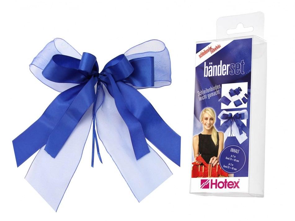 Комплект текстилни ленти, Schleifenfix, сини