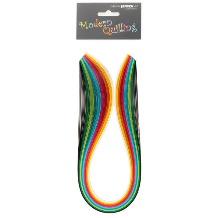 Ленти, Quilling, 5 mm x 48 cm, 100 ленти Ленти, Quilling, 5 mm x 48 cm, 100 ленти, разноцветни