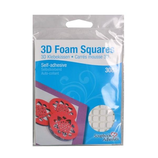 Алуминиево фолио, 20 х 30 см / 0,15 мм, 3 бр., двуцветно - червено и сребристо 3D Двойнолепящи Foam Squares