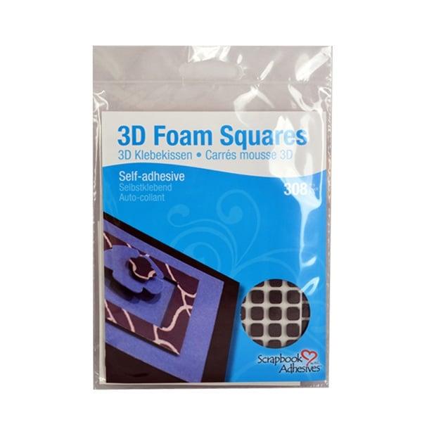 3D Двойнолепящи Foam Squares 3D Двойнолепящи Foam Squares, 6.3x6.3x2mm, черни, стандартна, 308 бр.
