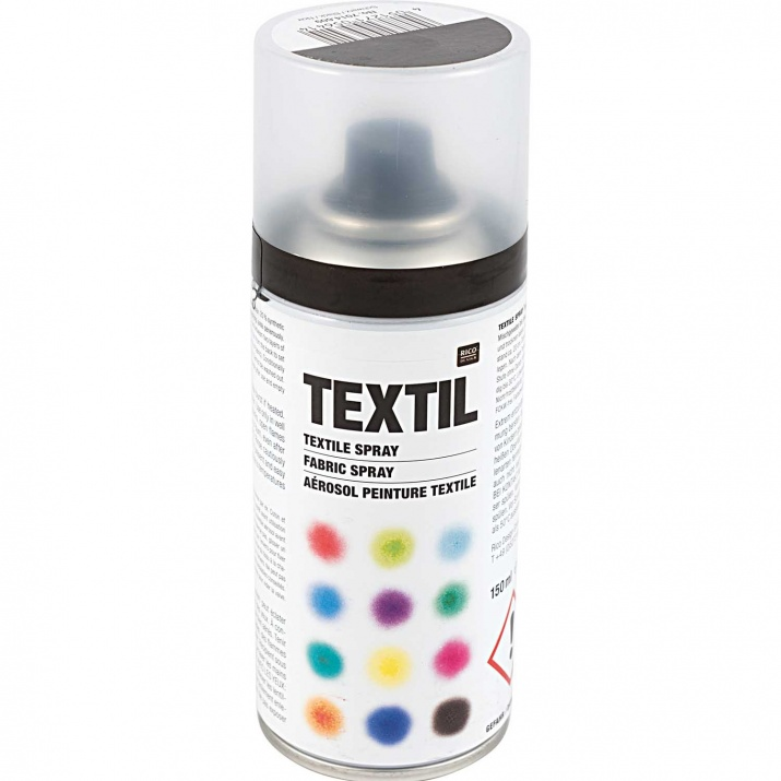 Алуминиево фолио, 20 х 30 см / 0,15 мм, 3 бр., двуцветно - червено и сребристо Спрей-боя за текстил, 150 ml, черен