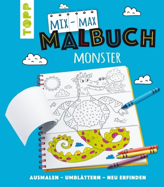 Алуминиево фолио, 20 х 30 см / 0,15 мм, 3 бр., двуцветно - червено и сребристо Книжка за оцветяване TOPP, Mix-Max-Malbuch Monster, 24 стр.