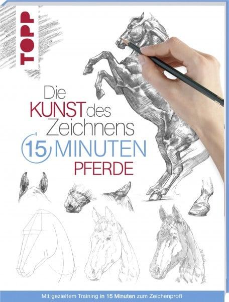 Книга на немски език TOPP, DIE KUNST DES ZEICHNENS 15 MINUTEN - PFERDE, 112 стр.