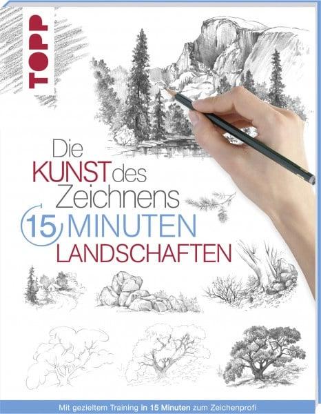 Книга на немски език TOPP, DIE KUNST DES ZEICHNENS 15 MINUTEN - LANDSCHAFTEN, 96 стр.
