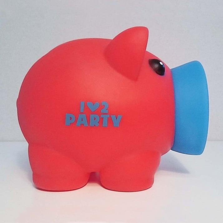 Касичка-прасенце I LOVE 2 PARTY, пластмаса