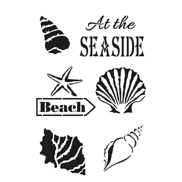 Шаблон, На плажа /6 части, A4