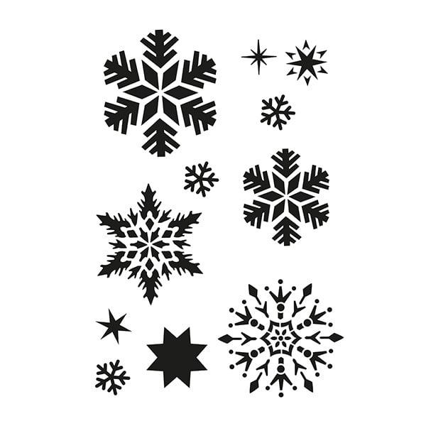Шаблон, Снежинки/ 11 части, A4