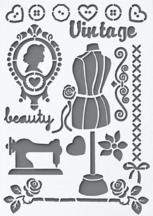 Шаблон, Vintage,17 части, A4