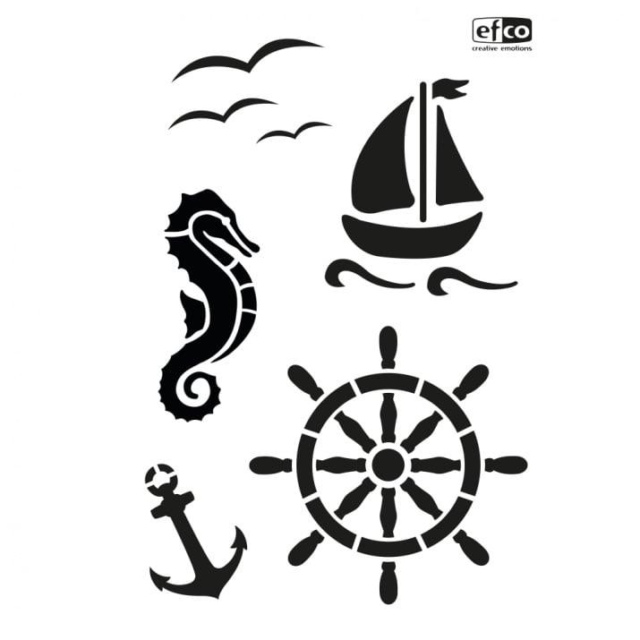 Шаблон, Морски свят/ 5 части, DIN A4