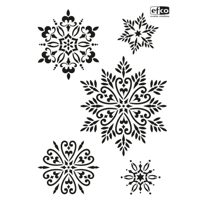 Шаблон Снежинки/ 5 части, DIN A4