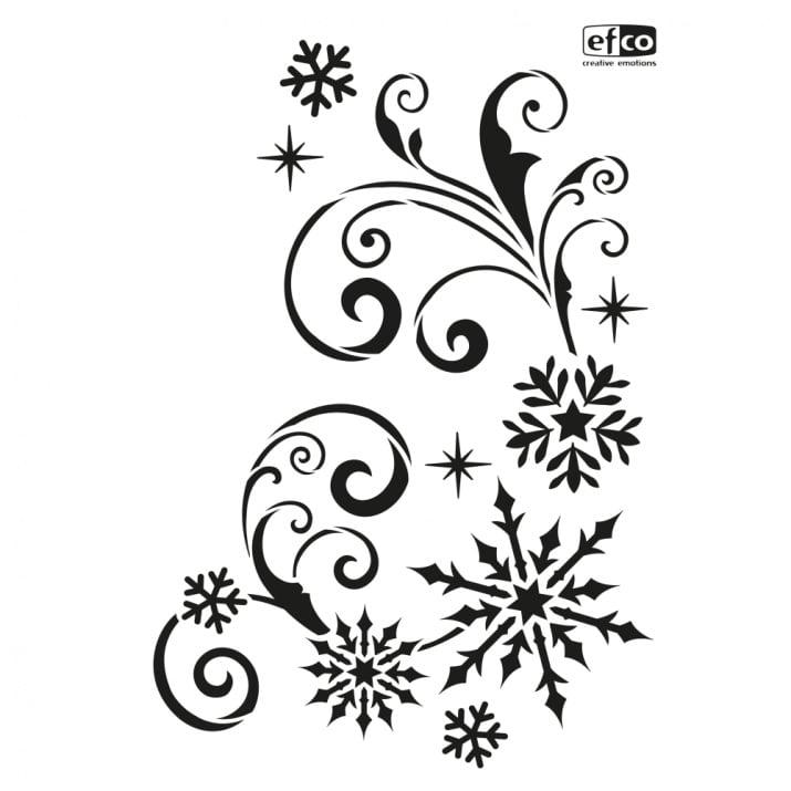 Шаблон Снежинки с орнаменти/ 1 част, DIN A4