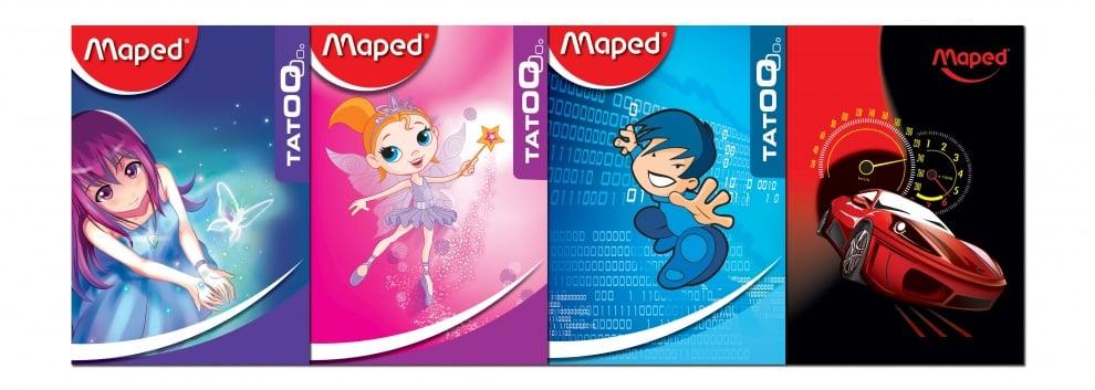Тетрадка MAPED, A5, големи квадратчета, мека корица, 20 листа